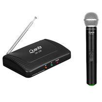Microfone Quanta QTMWU105 500-800 MHZ Alcance de Ate 60 M Bivolt - Preto