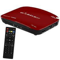 Receptor Fta Globalsat GS-600 Ultra HD Iptv/HDMI/USB Bivolt - Vermelho/Preto