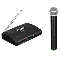 Microfone Quanta QTMWU105 500-800 MHZ com Alcance de Ate 60 M Bivolt - Preto