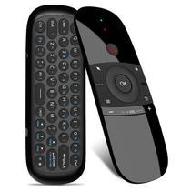 Teclado Controle para HTV/Ipbox/BTV Universal Air Mouse W1 com 2.4GHZ - Preto