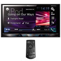 """Reprodutor DVD Automotivo Pioneer AVH-X595BT 7"""" com Bluetooth/USB - Preto"""