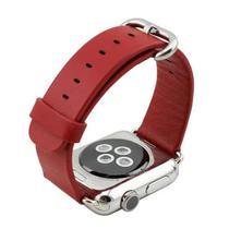 Pulseira 4LIFE para Apple Watch Classic Soft Leather - 42MM - Vermelho