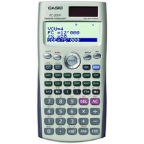 Calculadora Financeira Casio FC-200V 12 Modos + Panel Solar Dourado