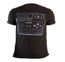 Camiseta Super Nintendo Controle s. Power Preto 0103