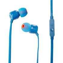 Fone de Ouvido JBL T110 3.5 MM com Microfone - Azul