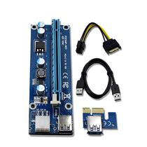 Placa de Vídeo Adapter Riser PCI-e/Mineracao - 6 Chips*