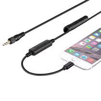 Adaptador para Microfone Saramonic LC-C35 Lightning para iPhone/ Plug Macho 3.5MM - Preto