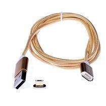 Cabo USB Mox MO-76 V8 Magnetic Cable de 1 Metro - Dourado