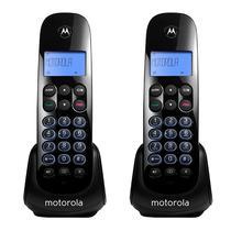 Telefone Motorola M-750 2 Base / Bivolt / Identificador de Chamadas / Viva Voz - Preto