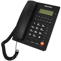 Telefone Fixo Megastar FT-708 com Identificador de Chamadas - Preto