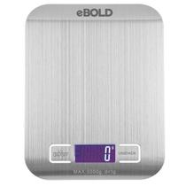 Balanca Digital para Cozinha Ebold BD-100 Ate 5 KG - Prata/Branco