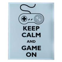 Placa Keep Calm And Game On
