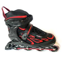 Patins Roller Perfect Sports SS-88A (M 35-38 /Black-Vermelho)