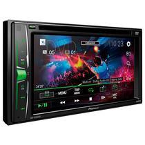 """Reprodutor de DVD Automotivo Pioneer AVH-A105DVD de 6.2"""" com USB - Preto"""