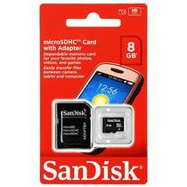 Cartao de Memoria Sandisk Micro SD 2X1 8GB SDSDQM-008G-B35A - Preto