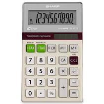 Calculadora Solar Sharp EL-377TB 10DIGITOS - Branco/Prata