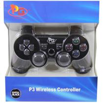 Controle Play Game Sem Fio Dualshock PS3 Blister-Preto