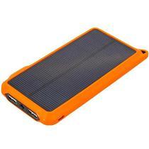 Carregador Portatil Quanta QTCSPL10 10.000MAH com 2 Saidas USB/Solar - Preto e Laranja