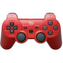 Controle Sem Fio para Playstation 3 Play Game - Vermelho