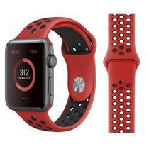 Pulseira 4LIFE de Silicone Nike para Apple Watch 38MM - Vermelho/Preto