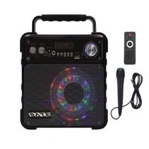 Caixa Karaoke Satellite AS-362 com Bluetooth/Radio FM/USB - Preto