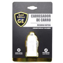 Carregador Gold Edition p/Carro GE-M10 12V-24V/1.5A/7.5W-Branco