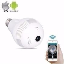 Camera Lampada LED Wifi IP HD Panoramica Unica 360O Espiao