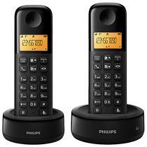 Telefone Sem Fio Philips D130 Duo D1302B/44 com Identificador de Chamadas - Preto