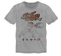 Camiseta s. Nintendo Street Fighter Cinza Siro Ryu Hadoken 9512
