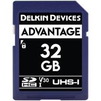 Cartao de Memoria Delkin Devices Advantage 32GB - V30 - SDHC Uhs-I - 100MBS