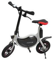 """Bicicleta Eletrica Foston P12 com Rodas de 12"""" - Prata"""
