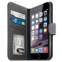 """Capa para iPhone 6S AI6SDIARBK Diary com Multiples Bolsos 4.7"""" Preto/Grafite"""