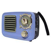 Radio Ecopower EP-F218 Bluetooth / USB / Cartao SD - Celeste e Dourado