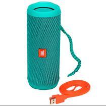 Caixa de Som JBL Flip 4 Bluetooth Verde Teal