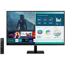"""Smart Monitor LED Samsung de 32"""" 4K Uhd LS32AM702UNXZA HDMI/USB-C/USB - Preto"""