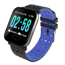 """Smartwatch Midi MD-A6 para Atividades Fisicas, Tela 1.3"""", 180MAH, Bluetooth - Preto e Azul"""