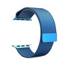 Pulseira 4LIFE de Aco Inoxidavel Estilo Milanes para Apple Watch 38MM, Magnetico - Azul