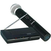 Microfone Sem Fio Quanta QTMIC102 Frequencia VHF Bivolt - Preto