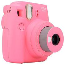 Camera Instantanea Fujifilm Instax Mini 9 com Flash/Visor A Pilha - Rosa