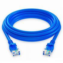 Cabo de Rede Quanta QTCRC503 3M/CAT5 Ethernet/2 RJ45/5 MM-Azul