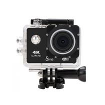 """Camera de Acao 5IVE Sports 4K Tela 2.0"""" Wi-Fi com Controle/Acessorios - Preto"""