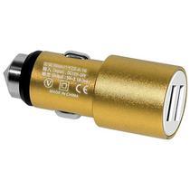 Carregador Veicular USB X-Tech XT-CC23 2 Saidas USB - Dourado