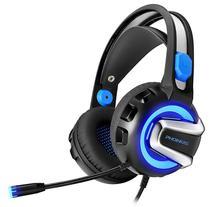 Headset para Jogos Phoinikas H4 com Microfone Preto/ Azul