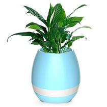 Caixa de Som de Som LED Bluetooth Music Flower Pot - Azul