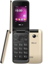 Celular Blu Diva Flex 2.4 T350 Dual Sim Cam Flash LED e Radio FM Dourado
