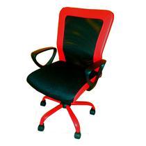 Cadeira de Escritorio Preta/Vermelha