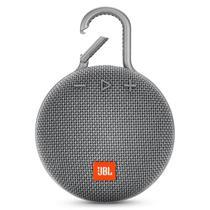 Caixa de Som de Som JBL Clip 3 com Bluetooth e Auxiliar Bateria de 1.000 Mah - Cinza