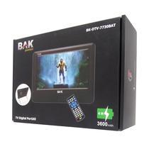 "Tela BAK BK-DTV-7730BAT 7"" / TDV / HDMI / 12V - Preto"