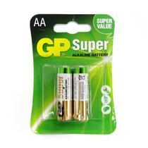 Pilhas Super Alcalinas AA GP GP15A-2U2 LR6 1.5V 2 Pecas