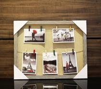 Quadro Porta Retrato Clip 40X70 Cinza